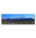 Panoramic photo of some rare snow on the Superstition Mountains just to the east of the Phoenix Arizona metropolitan area