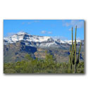 Photo of some rare snow on the eastern peak of Superstition Mountain just to the east of the Phoenix Arizona metropolitan area